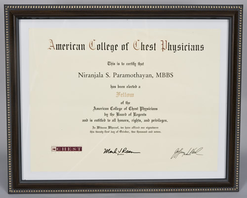 Fellow of The American College of Chest Physicians