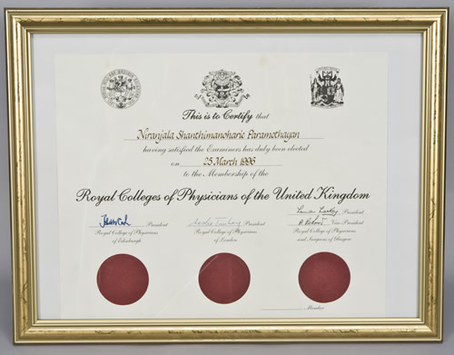 Membership of The Royal College of Physicians (MRCP)